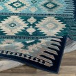 Product Image of Dark Blue, Aqua, Teal (PRG-1122) Southwestern / Lodge Area Rug