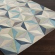 Product Image of Sky Blue, Medium Gray, Sage, Charcoal, Beige Contemporary / Modern Area Rug