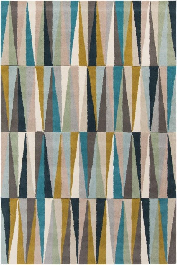 Silver Gray, Sage, Beige, Sky Blue, Aqua, Camel Contemporary / Modern Area Rug