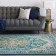 Product Image of Teal, Khaki, Dark Blue, Aqua, Ivory Traditional / Oriental Area Rug