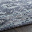 Product Image of Navy, Dark Purple, Aqua, Pale Blue Traditional / Oriental Area Rug