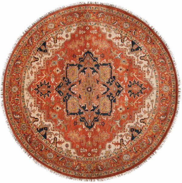 Rust, Violet, Khaki, Rose, Bright Purple Traditional / Oriental Area Rug