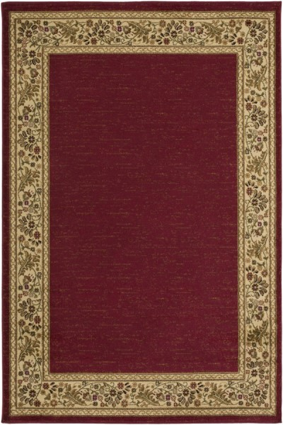 Dark Red, Wheat, Camel, Dark Brown Country Area Rug
