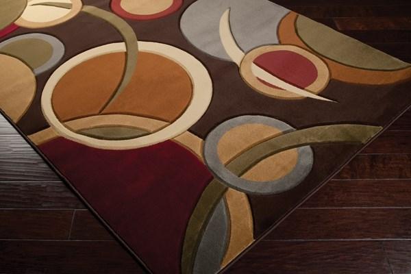 Espresso, Burnt Sienna, Dove Gray Contemporary / Modern Area Rug