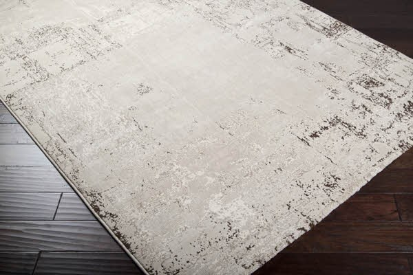 Light Gray, Taupe, Off White, Brown Transitional Area Rug