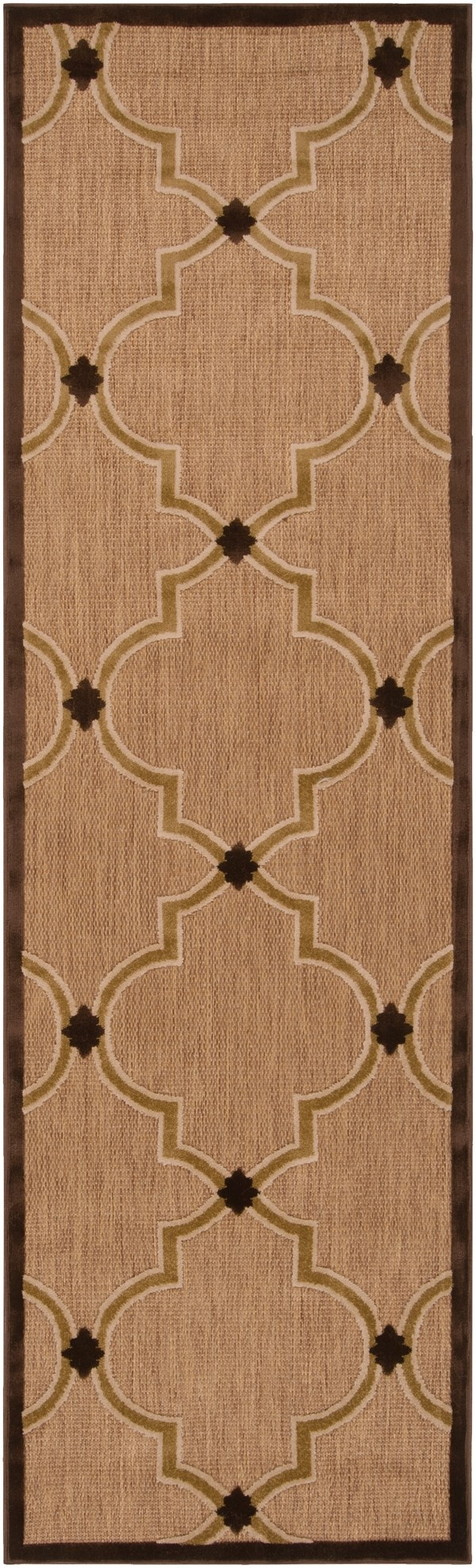 Dark Brown, Beige, Camel, Tan Transitional Area Rug