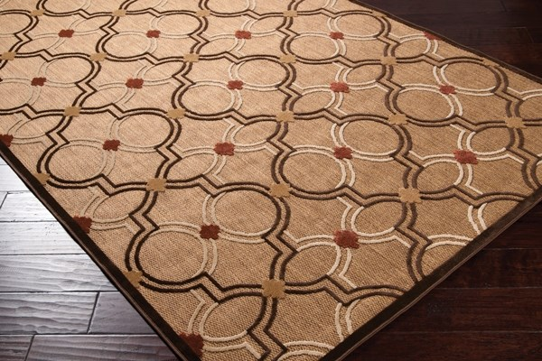 Khaki, Dark Brown, Wheat, Rust Moroccan Area Rug