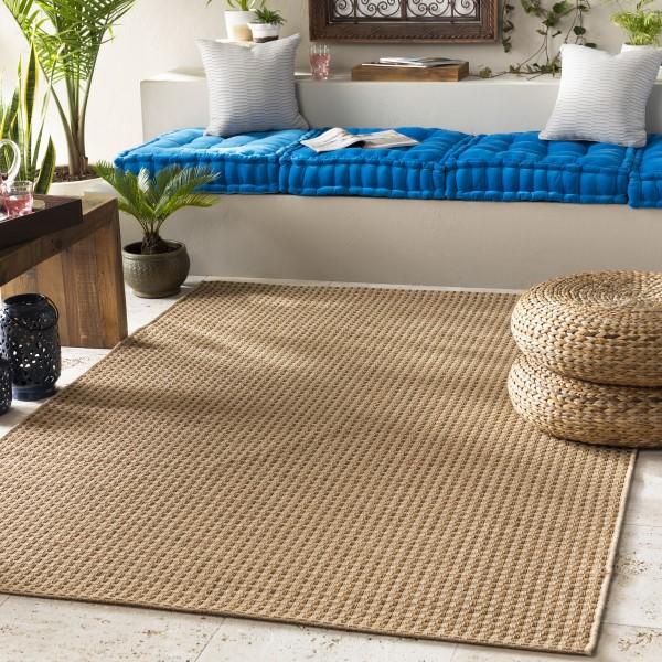 Cream, Natural Outdoor / Indoor Area Rug