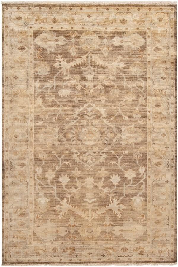 Dark Khaki, Antique White, Oyster Gray Traditional / Oriental Area Rug