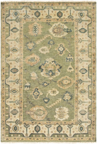 Duksy Citron, Oil Green, Silt Green Traditional / Oriental Area Rug
