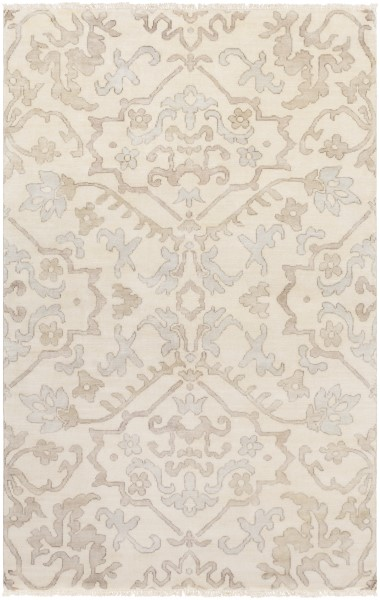 Light Grey, Camel, Taupe Traditional / Oriental Area Rug
