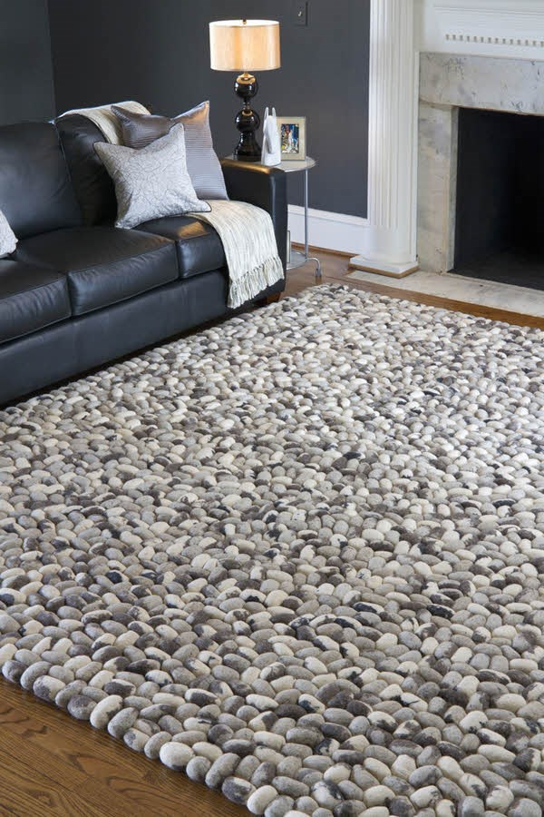 Charcoal, Taupe, Cream, Black Contemporary / Modern Area Rug