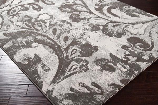 Gray, Cream, Brown Contemporary / Modern Area Rug