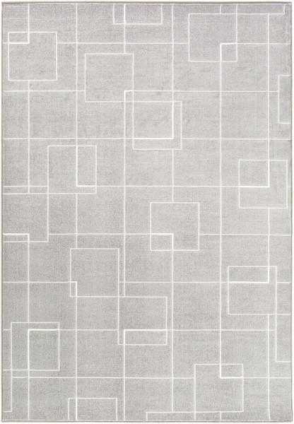 Medium Gray, White, Light Gray Geometric Area Rug