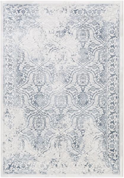 Light Gray, Denim, White Vintage / Overdyed Area Rug