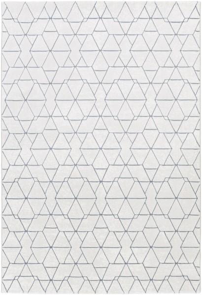 Light Gray, Denim, White Contemporary / Modern Area Rug