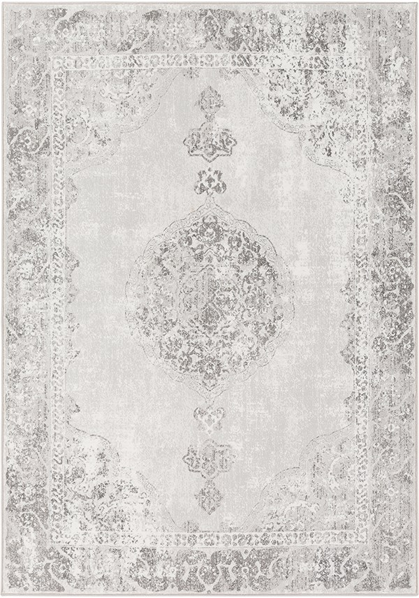 Camel, White Traditional / Oriental Area Rug