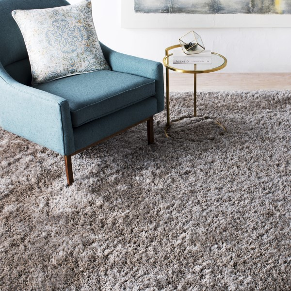 Light Grey (06) Shag Area Rug