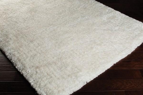 White (09) Shag Area Rug