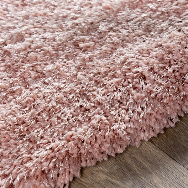 Pale Pink (13) Shag Area Rug