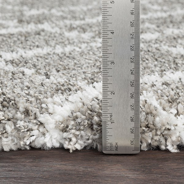 Taupe, Light Gray, White Shag Area Rug