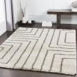 Product Image of Dark Brown, Light Gray, White Shag Area Rug