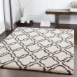 Product Image of Dark Brown, White, Charcoal Shag Area Rug