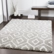 Product Image of  Brown, Light Gray, White Shag Area Rug