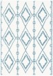 Product Image of Teal, White Shag Area Rug