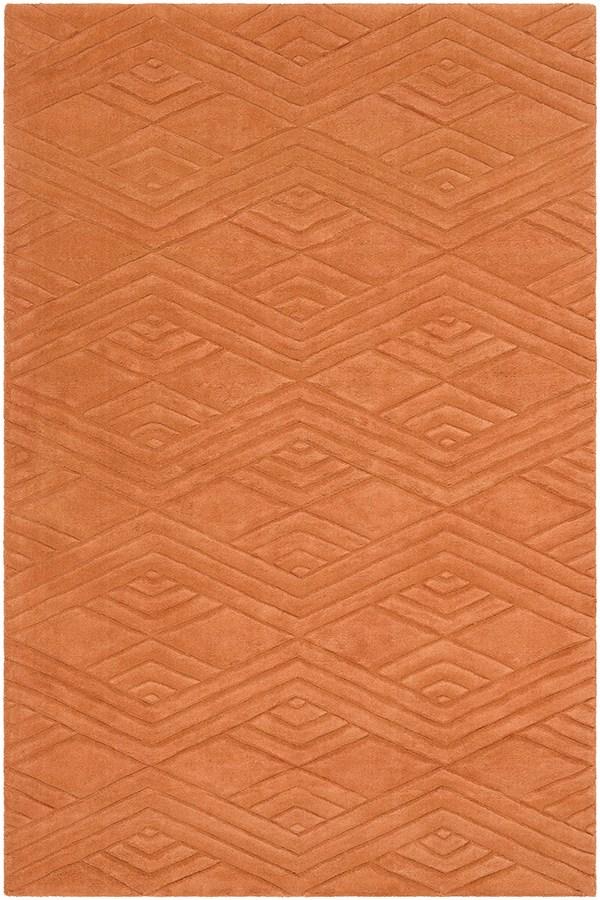 Burtn Orange (ETC-5002) Geometric Area Rug