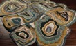 Product Image of Khaki Green, Peacock Blue, Ink Contemporary / Modern Area Rug