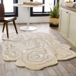 Product Image of Beige, Wheat, Khaki Abstract Area Rug