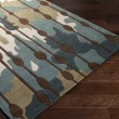 Product Image of Mushroom, Silver Could, Teal Contemporary / Modern Area Rug