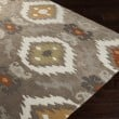 Product Image of Taupe, Dark Brown, Lime, Burnt Orange, Olive Moroccan Area Rug