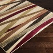Product Image of Chocolate, Burgundy, Butter Striped Area Rug