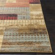 Product Image of Dark Red, Tan, Charcoal Contemporary / Modern Area Rug