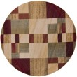 Product Image of dark Red, Dark Brown, Charcoal, Black, Tan Contemporary / Modern Area Rug