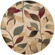 Product Image of Dark Red, Dark Brown, Camel, Tan, Charcoal, Cream Floral / Botanical Area Rug