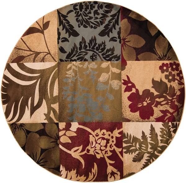 Sienna, Tea Leaves, Coffee Bean Floral / Botanical Area Rug