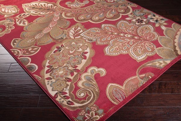 Camel, Mossy Stone, Sienna Paisley Area Rug