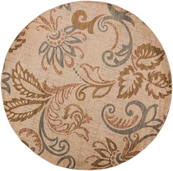 Camel, Mossy Stone, Tea Leaves Floral / Botanical Area Rug