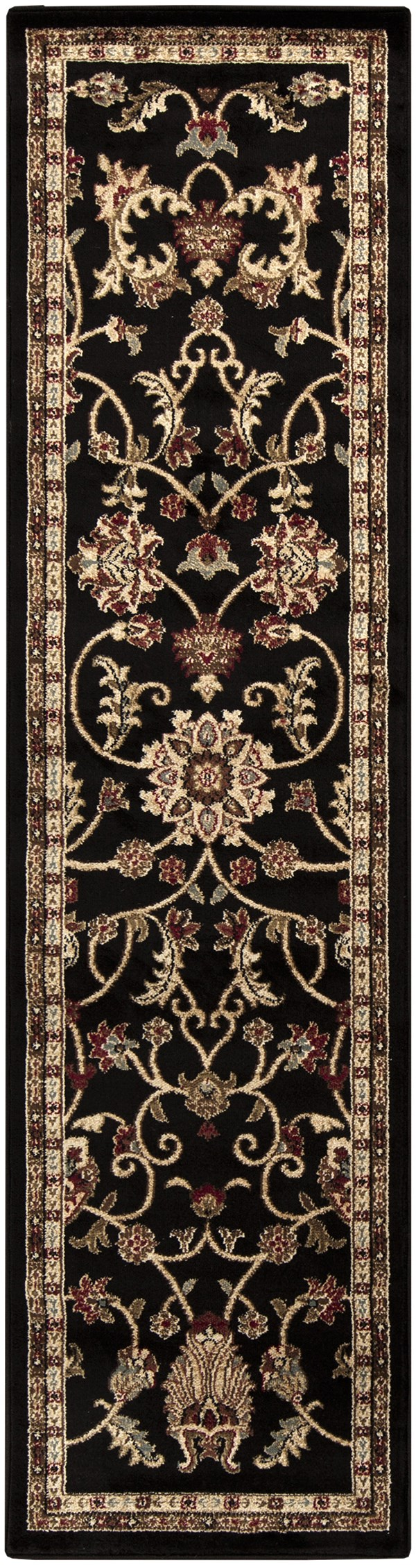Jet Black, Camel, Sienna Traditional / Oriental Area Rug