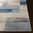 Product Image of Blue, Taupe, Ivory Geometric Area Rug