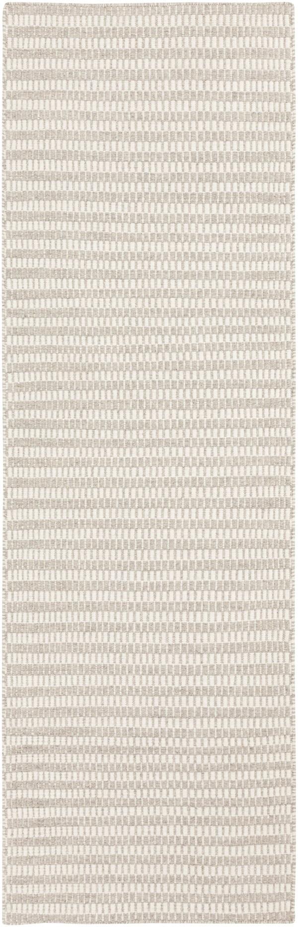 Taupe, Khaki Striped Area Rug