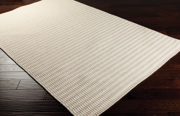 Biscotti, White Striped Area Rug