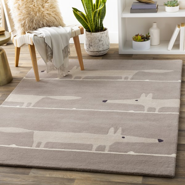 Taupe, Brown (SCI-44) Children's / Kids Area Rug