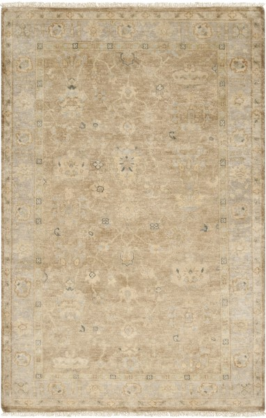 Pale Blue, Khaki, Beige Traditional / Oriental Area Rug
