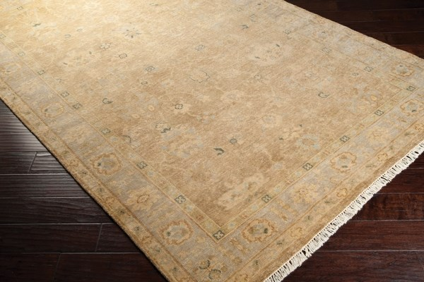 Teal, Light Grey, Taupe, Beige, Pale Blue Traditional / Oriental Area Rug