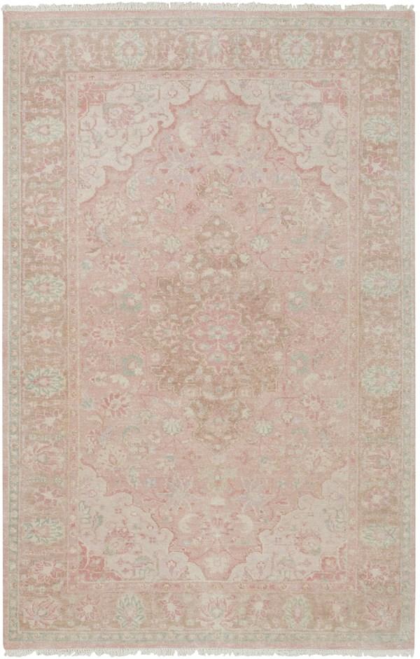Cream, Camel, Bright Pink, Rose, Sage Traditional / Oriental Area Rug