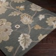 Product Image of Feather Gray, Pewter, Cumin Floral / Botanical Area Rug